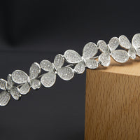 Cubic Zirconia Simple Butterfly Headband for Wedding,Crystals Bride Tiara Hair Jewelry HG125