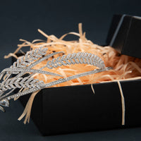 Zirconia Wheat Tiara for Wedding,Crystal Royal Tiaras for Girl Party CH10361