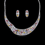 Cubic zirconia bride wedding necklace earring set top quality  CN10092 - sepbridals