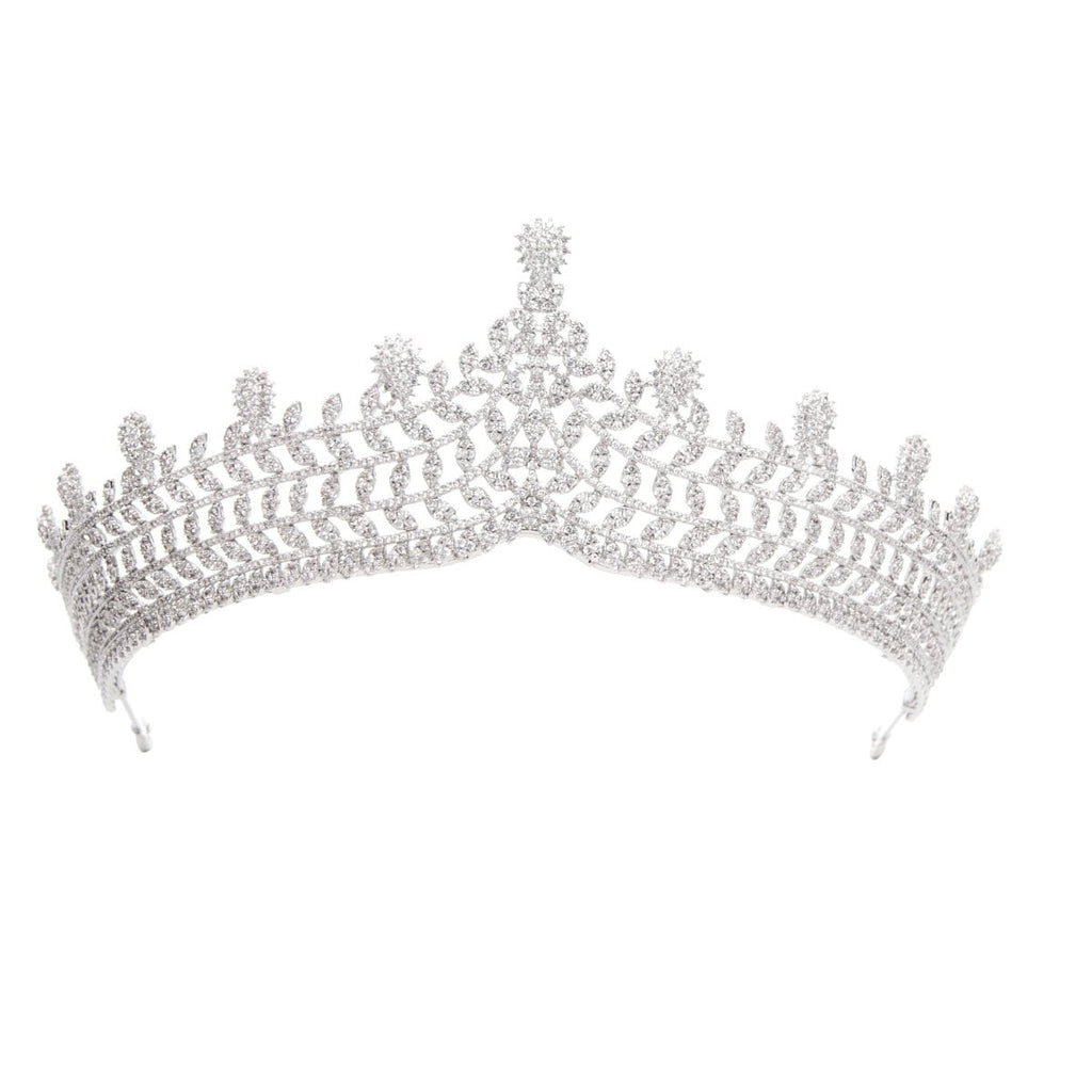 Cubic zirconia wedding bridal tiara diadem hair jewelry A90043 - sepbridals