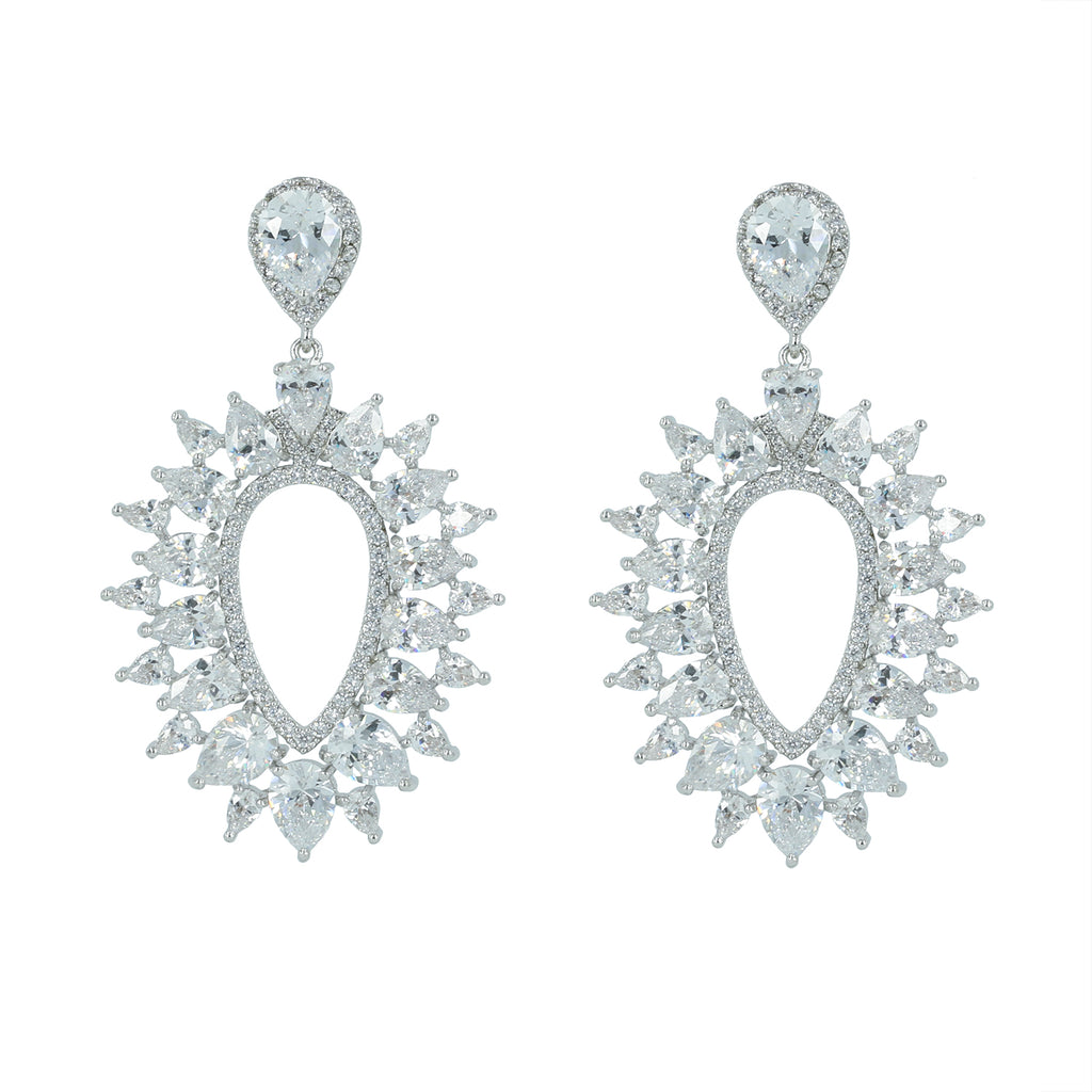 Cubic Zirconia Dangle Bridal Wedding Earring CE10154 - sepbridals