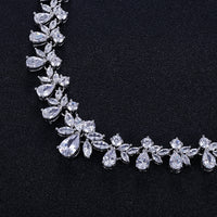 Cubic zirconia bride wedding necklace earring set top quality CN10038 - sepbridals