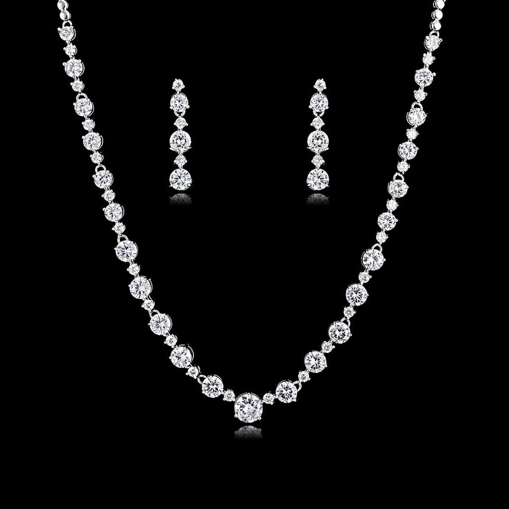 Cubic  zirconia bride wedding necklace earring sets CN10155 - sepbridals
