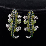 Fashion animal gecko lizard necklace earring sets with rhinestone crystal  FA3274 - sepbridals