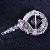 Fashion Cubic Zircon Animal Snake Brooch Pin R02750 - sepbridals