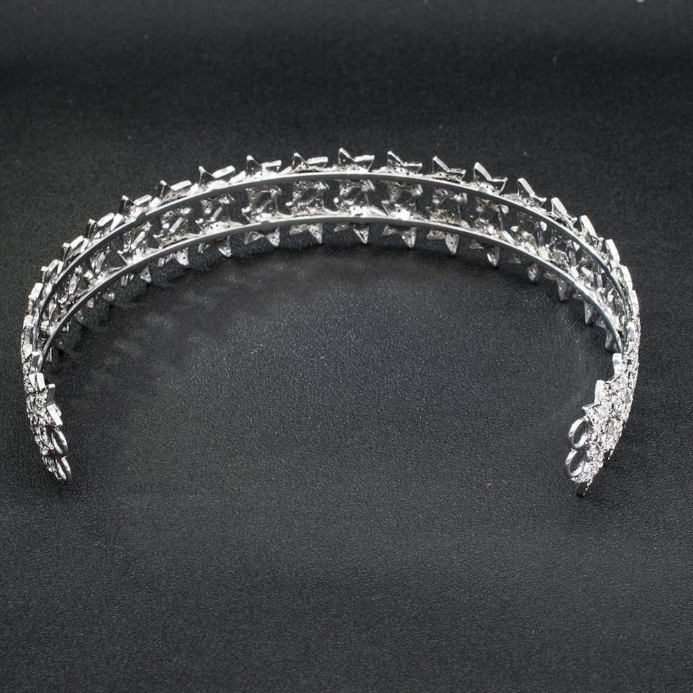 Cubic crystals wedding  bridal royal tiara diadem crown HG0049 - sepbridals