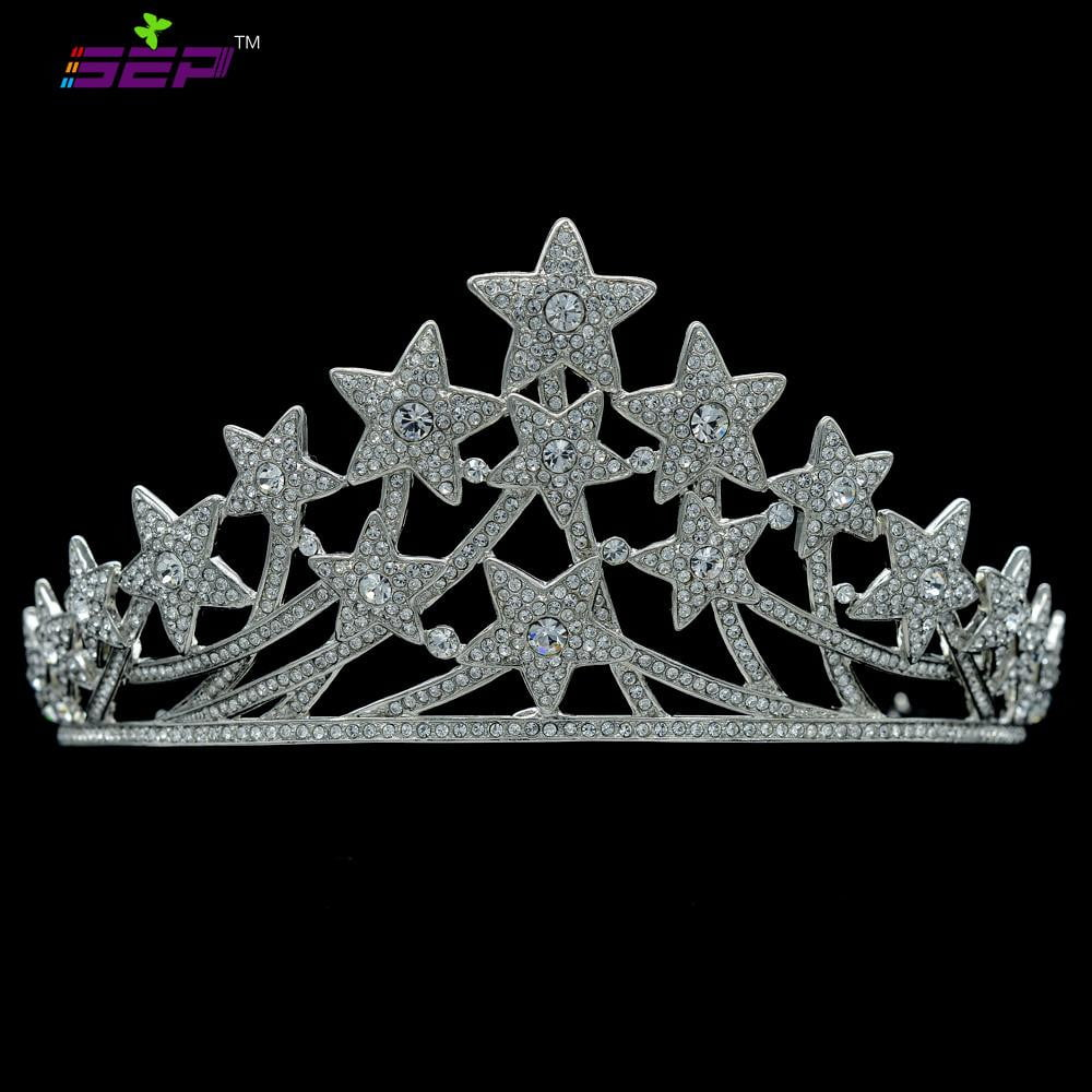 Bridal Wedding Stars Tiara Crown  SHA8601 - sepbridals