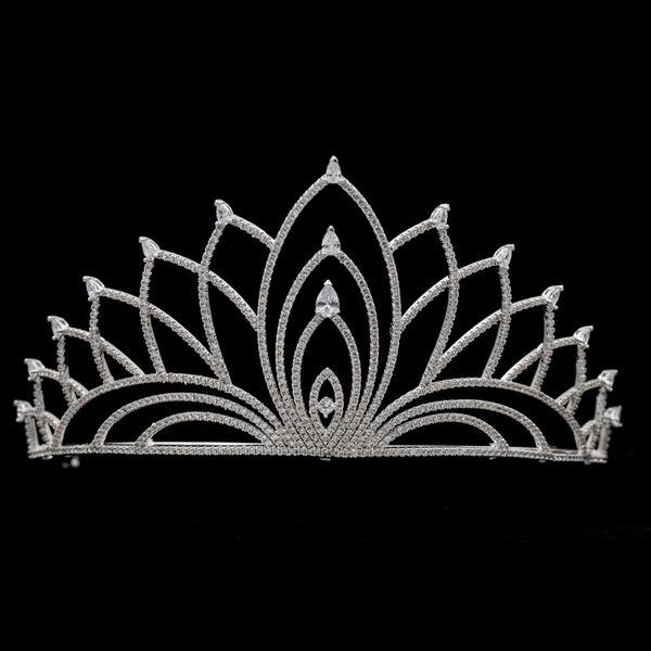 Cubic zircon wedding bridal tiara diadem hair jewelry TR16212 - sepbridals