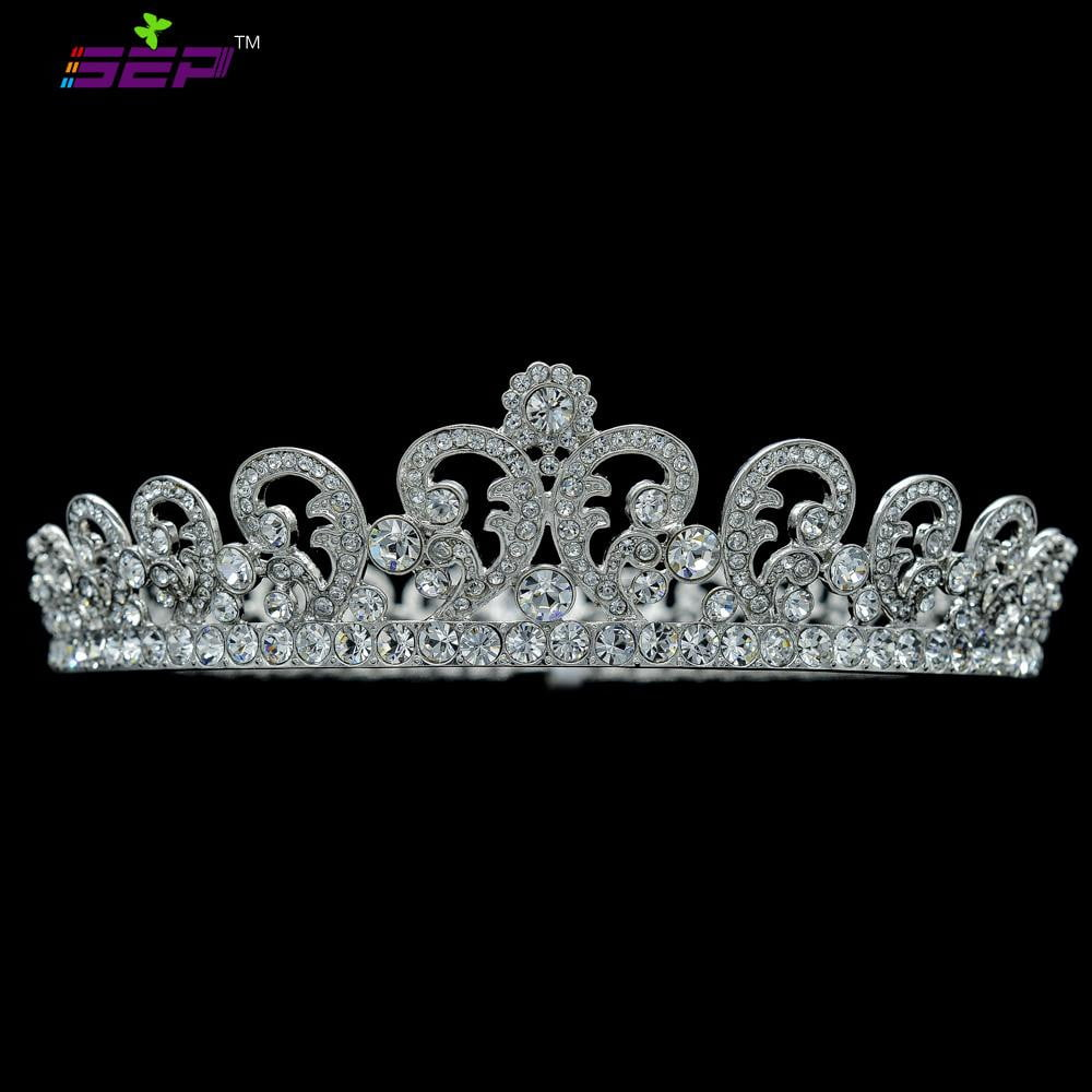 Austrian Rhinestone Crystals Flower Wedding Bridal  Diadem Tiara Crown SHA8576A - sepbridals