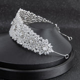 Cubic zirconia bridal wedding soft headband hairband tiara  CHA10024 - sepbridals
