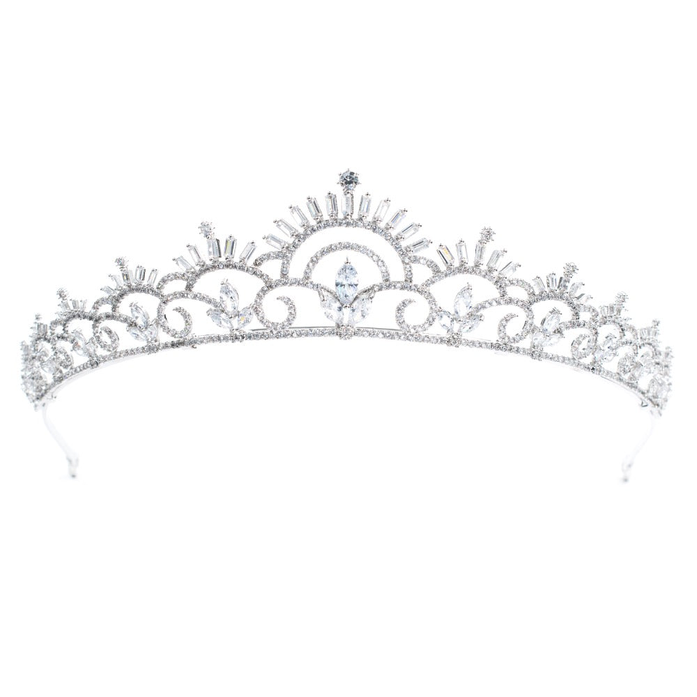 Cubic zircon wedding  bridal royal tiara diadem crown CH10125 - sepbridals