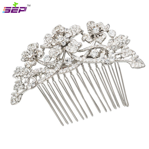 Flower Hair Comb Bridal Hairpins Wedding Hair Jewery Accessories CO2255R - sepbridals