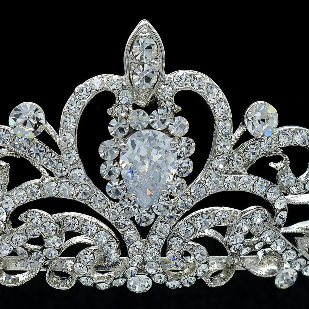 Cubic crystals wedding bridal royal tiara diadem crown JHA7762 - sepbridals