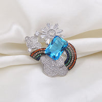 Popular Exquisite Clouds Rainbow Brooch Pins HR2393 - sepbridals