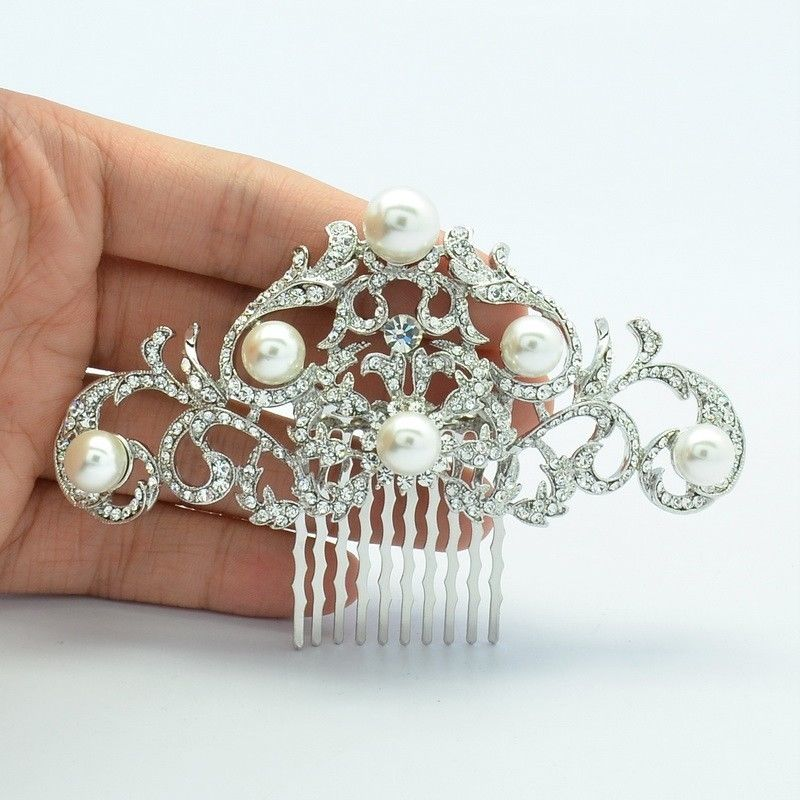 Rhinestone Crystal Wedding Bridal  Hairpins Hair Comb COFA2937 - sepbridals