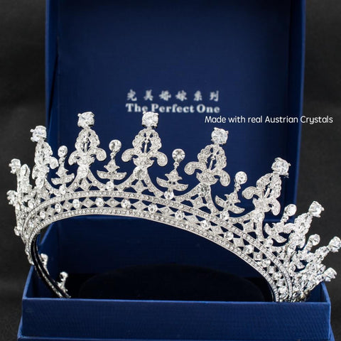 Crystal 2/3 round wedding bridal tiara crown diadem  05365L - sepbridals