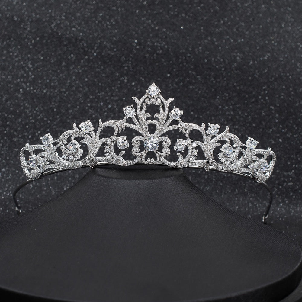 Cubic zircon wedding  bridal royal tiara diadem crown CH10256 - sepbridals