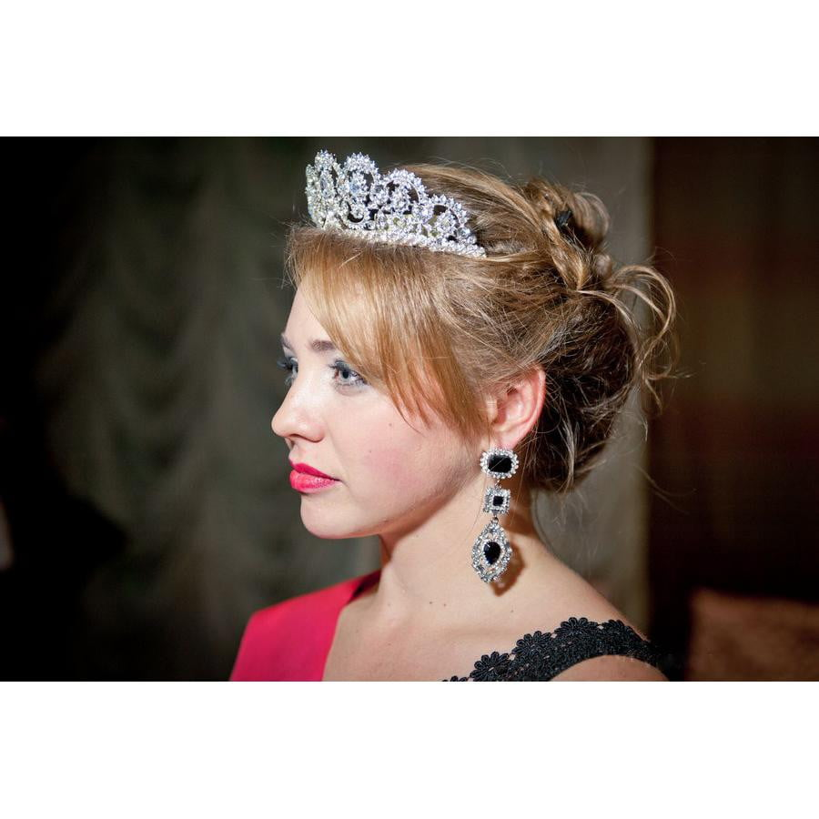 Austrian Crystal Rhinestone Wedding Tiara Hair Jewelry SHA8629 - sepbridals