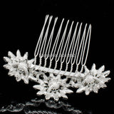 Rhinestone Crystals Sunflower Bridal Hair Comb  CO1461R1 - sepbridals