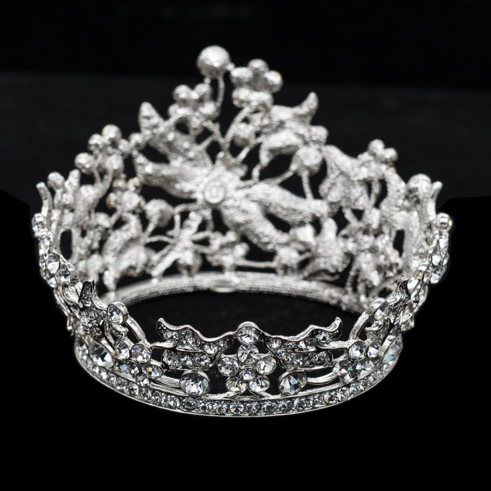 Cubic crystals wedding  bridal royal tiara diadem crown SHA8712 - sepbridals