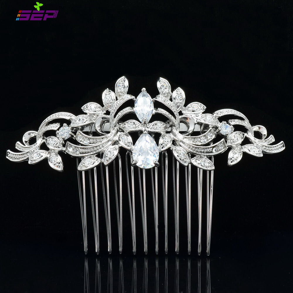 Rhinestone Crystals Vintage  Plated Hairpins Hair Combs Bridal Wedding CO4012R - sepbridals