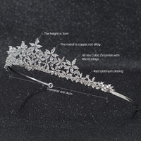 Cubic Zirconia Wedding Bridal Tiara Hair Accessories CH10283 - sepbridals