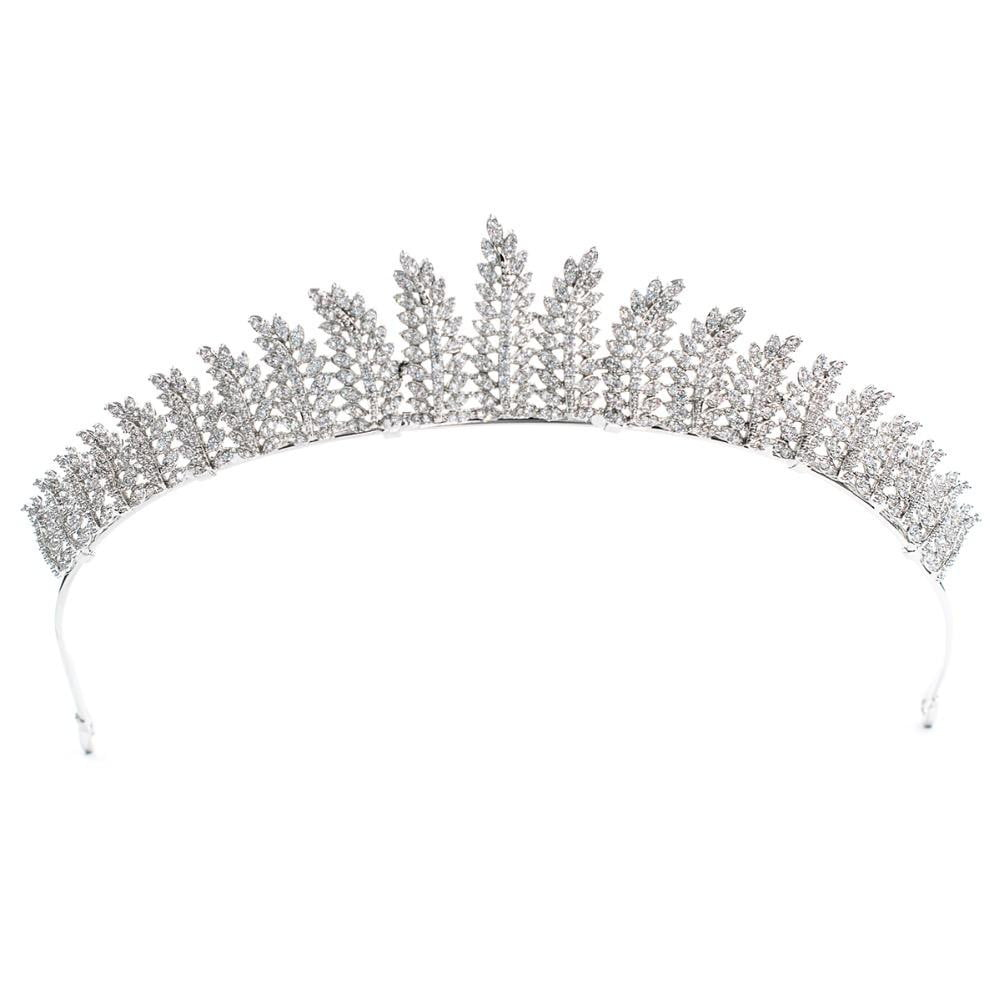 Cubic zirconia wedding bridal tiara diadem hair jewelry CH10146 - sepbridals