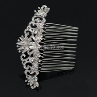 Rhinestone Crystals Wedding Accessories Veil Hairpins Women Hair Comb CO2302R - sepbridals