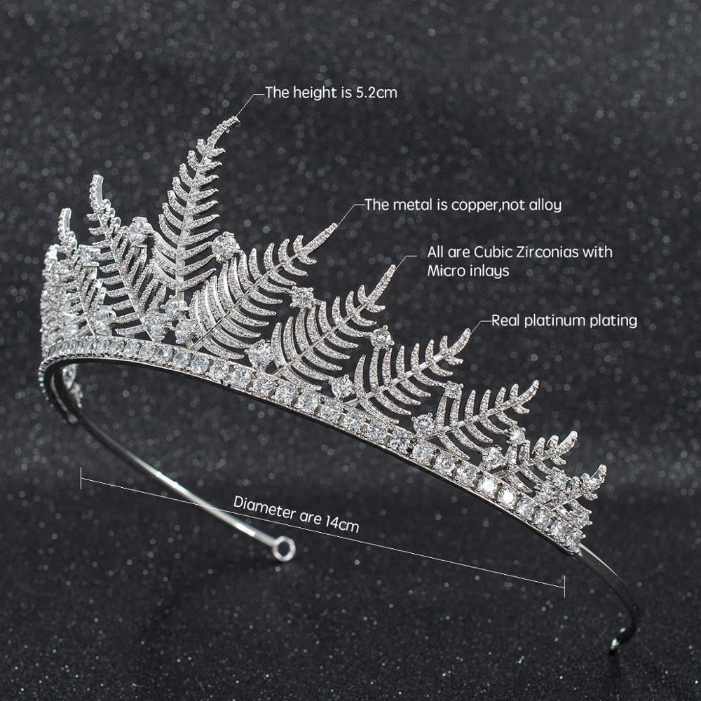 Full Cubic Zirconia Wedding Bridal Tiara Hair Accessories CH10270 - sepbridals
