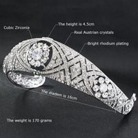 Cubic crystals wedding  bridal royal tiara diadem crown HG078 - sepbridals