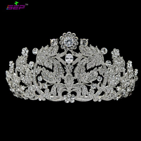 Cubic crystals wedding  bridal royal tiara diadem crown JHA8318 - sepbridals