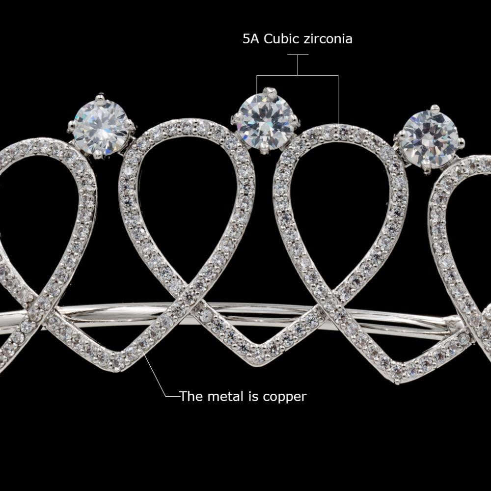 Cubic zircon wedding bridal tiara diadem hair jewelry HG0109 - sepbridals