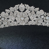 Cubic Zirconia Flower Wedding Bridal Tiara Hair Accessories CH10217