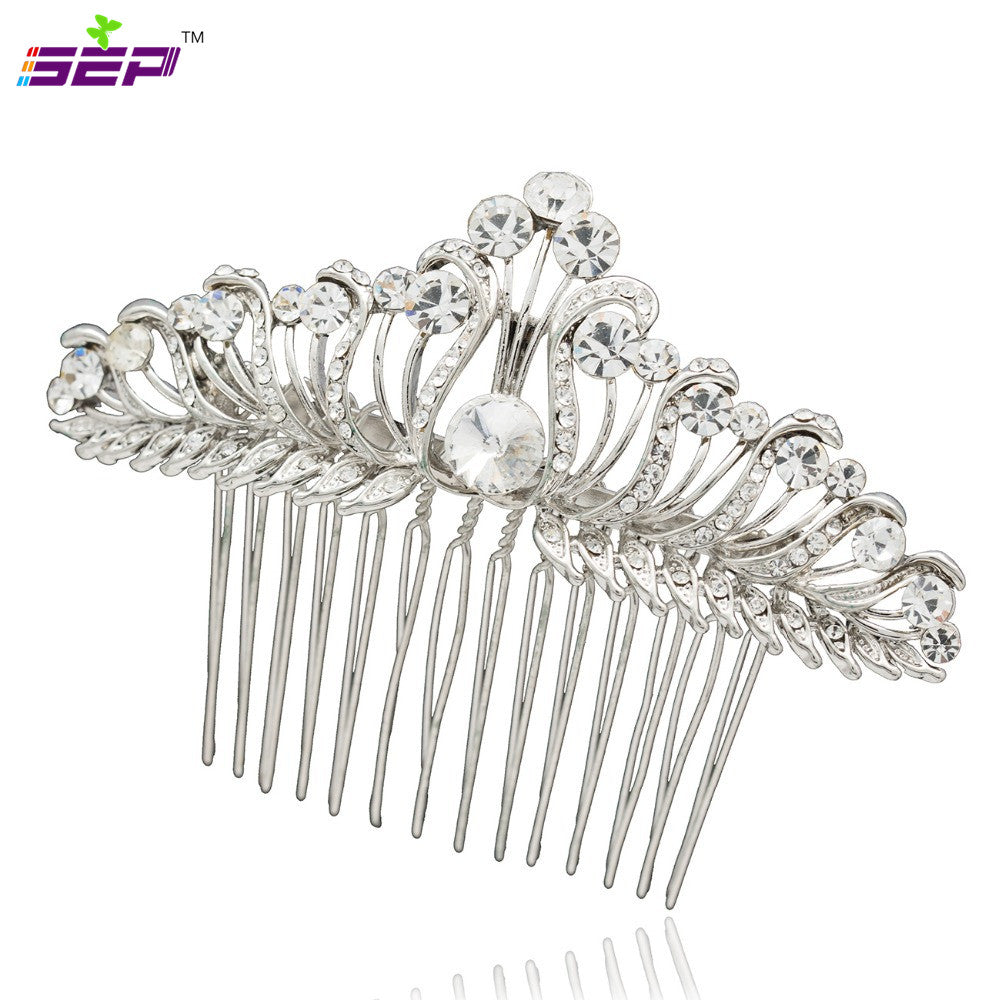 Rhinestone Crystal Women Hair Comb Bridal Wedding Hair Accessories CO2261R - sepbridals