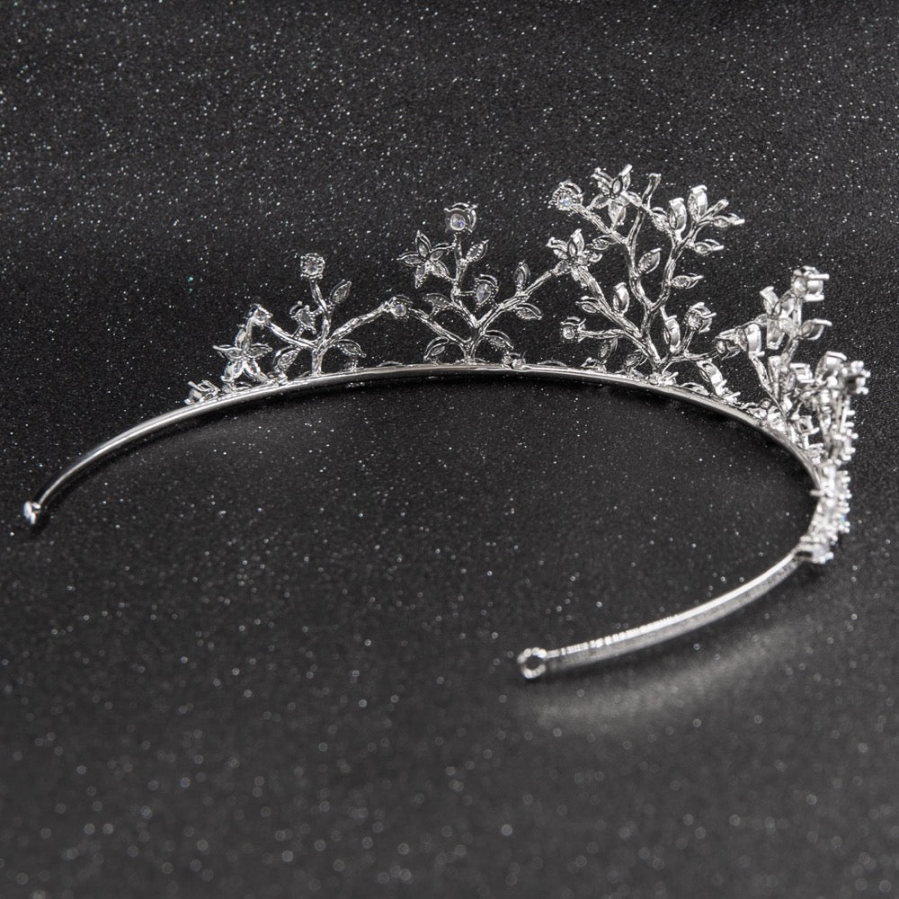Cubic zircon wedding  bridal royal tiara diadem crown CH10254 - sepbridals