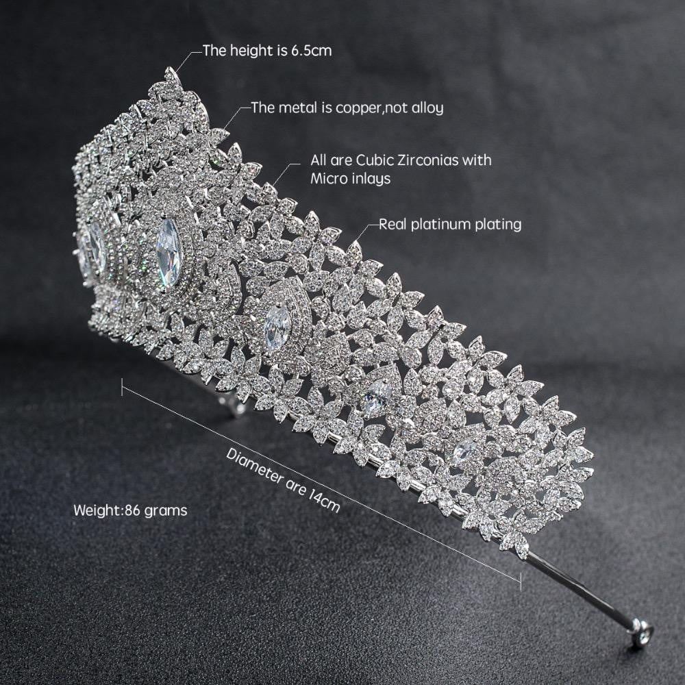 Cubic zircon wedding bridal tiara diadem hair jewelry CH10126 - sepbridals