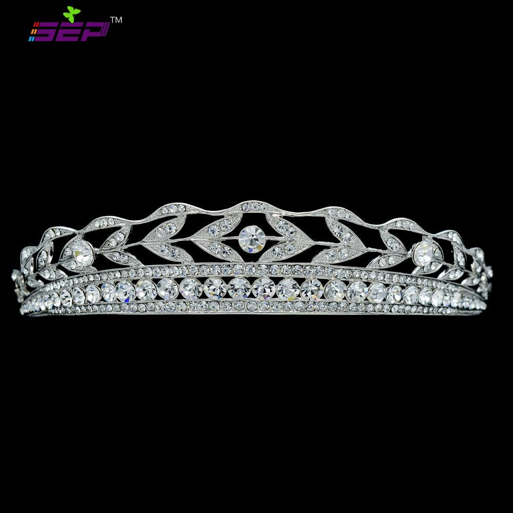 Rhinestone Crystals Bridal Wedding Crown Tiara Hair Jewelry JHA7757 - sepbridals