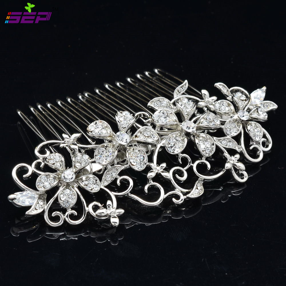 Rhinestone Crystal Wedding Bridal  Hairpins Hair Comb CO2250R - sepbridals