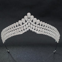 Cubic Zirconia Classic Wedding Bridal Royal Tiara Diadem Crown S90001T1 - sepbridals