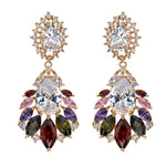 Cubic Zirconia Teardrop Earring  Dangle Earrings Bridal Wedding Jewelry GT8038 - sepbridals