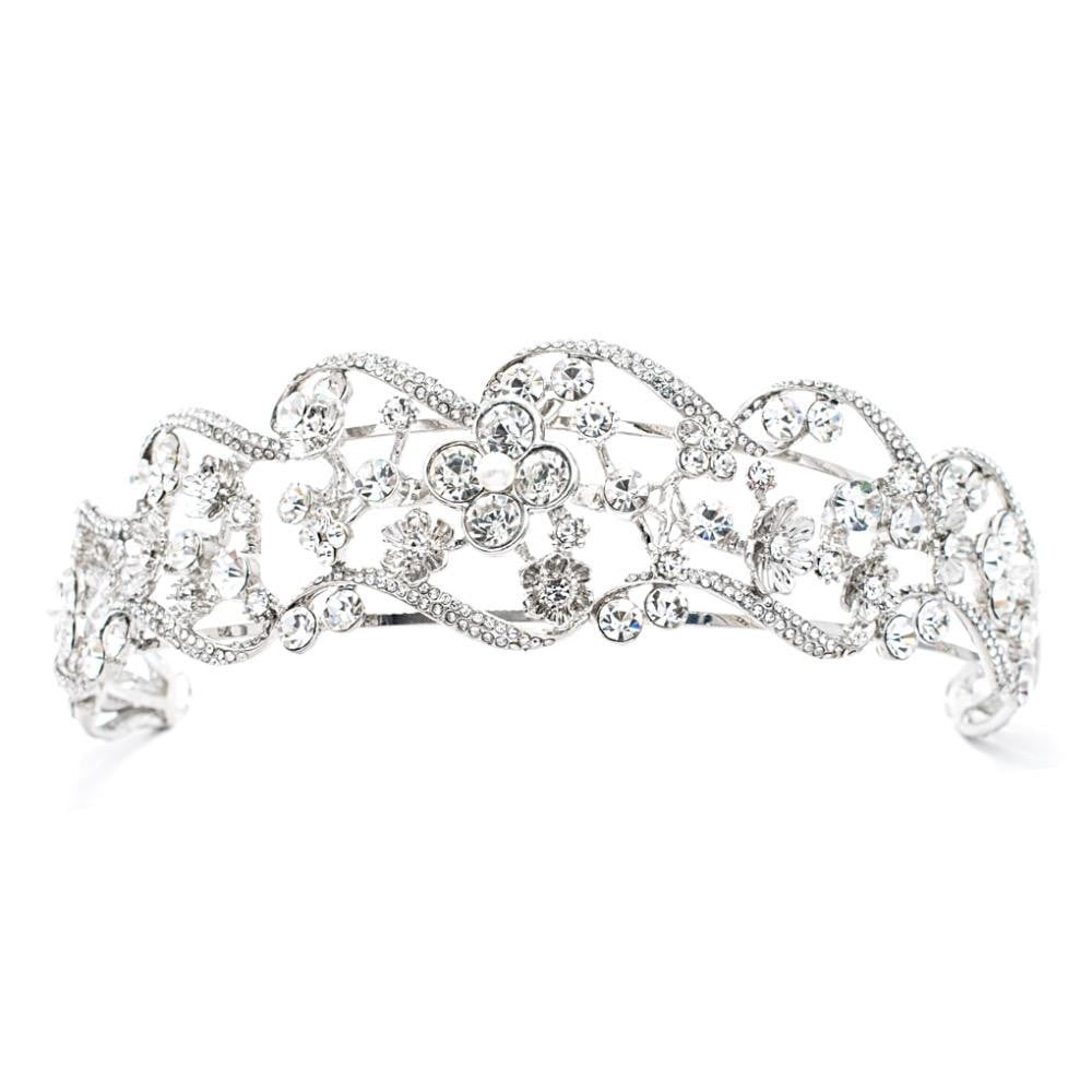 Crystals Rhinestone Bridal Wedding Headband for Girl Jeadpiece HG0051 - sepbridals