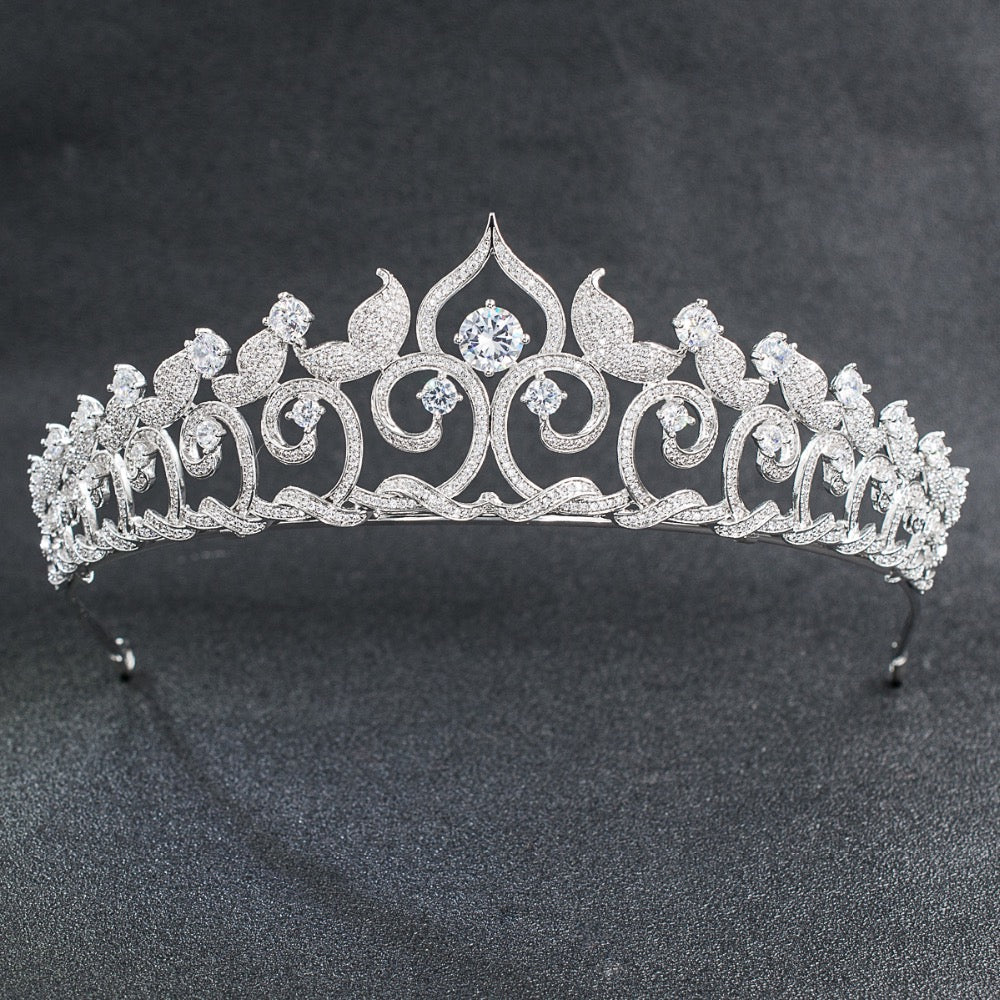 Cubic zircon wedding bridal tiara diadem hair jewelry CH10095 - sepbridals