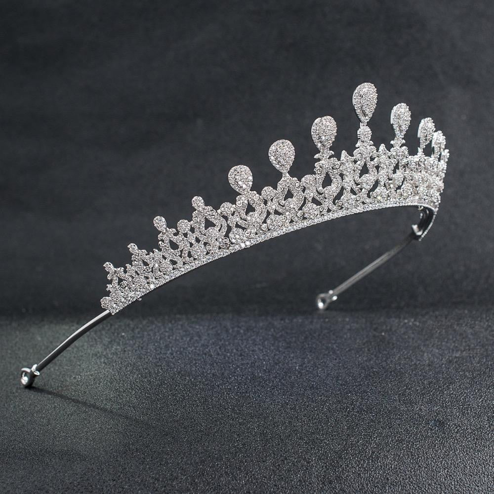 Cubic zirconia wedding bridal tiara diadem hair jewelry CH10142 - sepbridals