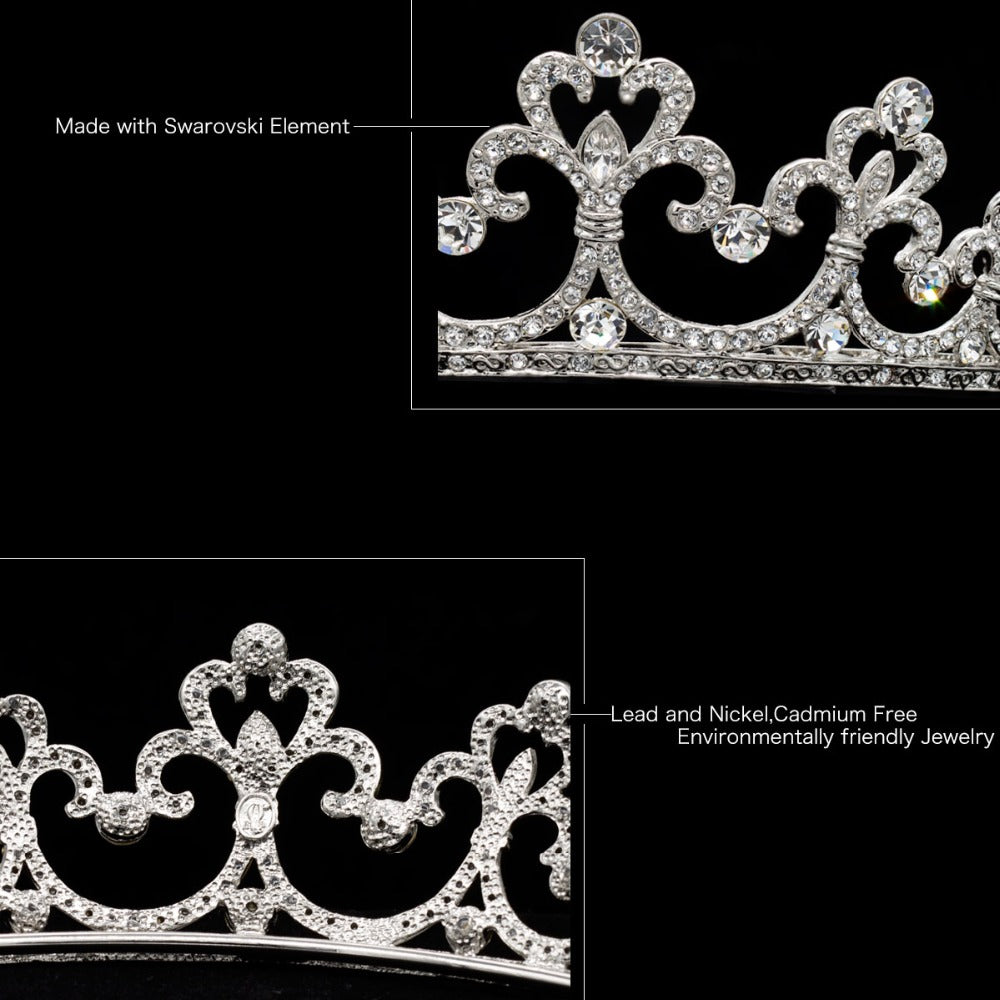 Vintage Tiara Wedding Crown for Bridal Wedding Hair Jewelry JHA6486 - sepbridals