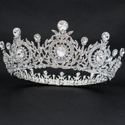 Cubic crystals wedding  bridal royal tiara diadem crown SHA8641 - sepbridals