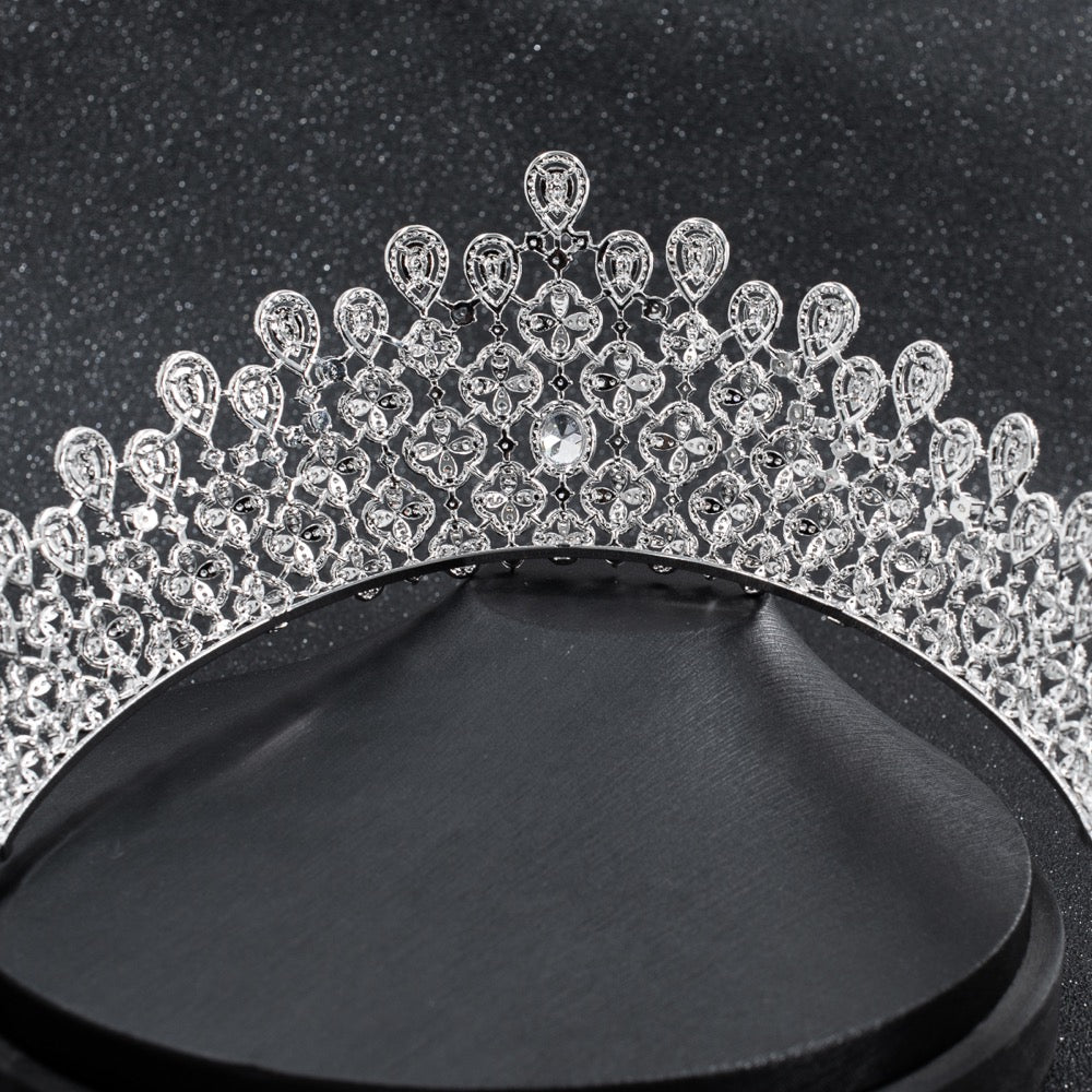 Cubic zircon wedding bridal tiara diadem hair jewelry CH10229 - sepbridals