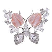 Crystal Cubic Zirconia Multicolor Butterfly Brooch HR03894 - sepbridals
