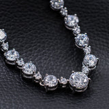 Cubic zirconia bride wedding necklace earring set top quality N0052Y - sepbridals