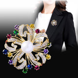 Gorgous Jewelry Accessory Cubic Zircon Flower Brooches  R02530 - sepbridals
