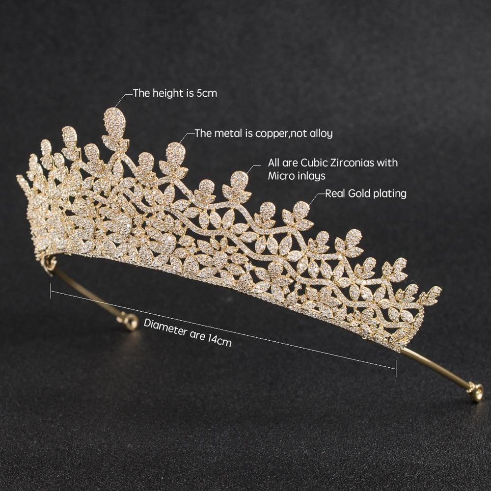 Cubic zirconia wedding bridal tiara diadem hair jewelry CH10141 - sepbridals